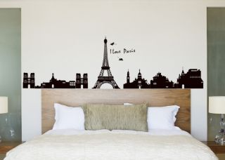 Grand PARIS EIFFEL TOWER wall Stickers Mural Room Decor Art Vinyl