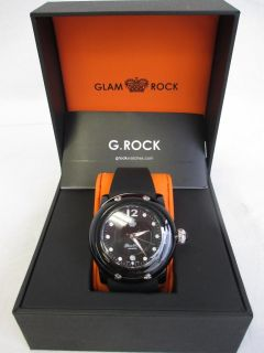 Glam Rock Womens GK1014 Miami Beach Black Dial Watch