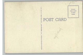 Linen Postcard George Rogers Clark Monument Riverview Park Quincy