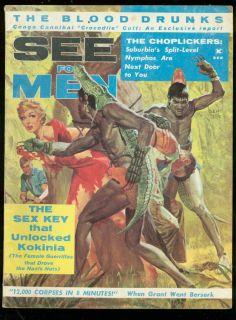 SEE FOR MEN SEPT 1961 MUD WRESTLING ANN AUSTIN G GROSS VG/FN