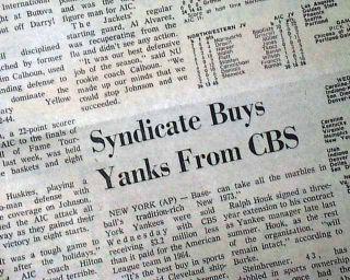 George Steinbrenner Buys The New York Yankees MLB Baseball Team 1973