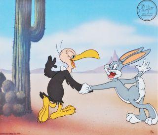 Warner Brothers Ed Cel Signed Bob Clampett Bugs Bunny Bucky Buzzard