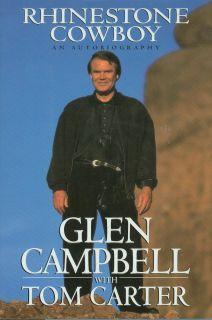 Glen Campbell Rhinestone Cowboy Book Autographed