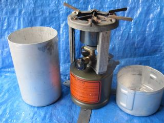 WWII 1945 COLEMAN US MILITARY BURNER MOD 520 CAMP STOVE COMPLETE W