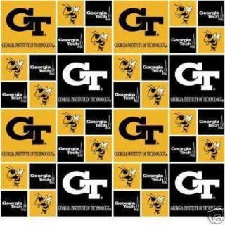 New Custom 10pc Georgia Tech Yellow Jackets Crib Set