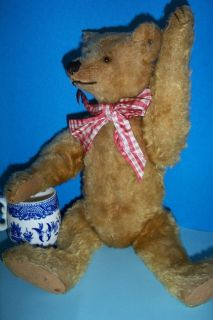 16 Circa 1920s Gold Steiff Teddy Bear with FF Button