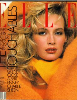 Elle Magazine 10 87 Elaine Irwin Charlie Sheen Glenn Close