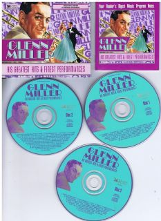 Glenn Miller Hits Performances 3 CD Set Readers Digest Big Band
