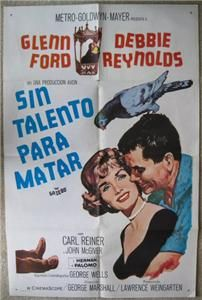 Debbie Reynolds Glenn Ford 1959 ORG Movie Poster 4129