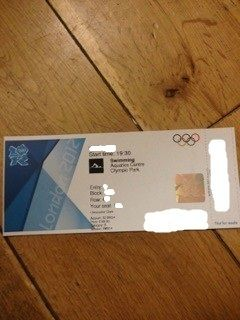 MICHAEL PHELPS SWIMMING FOR GOLD* LONDON OLYMPIC TICKET for SW004