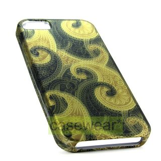 Concept J12 Design Rubberized Snap On Hard Case Cover for Apple iPhone