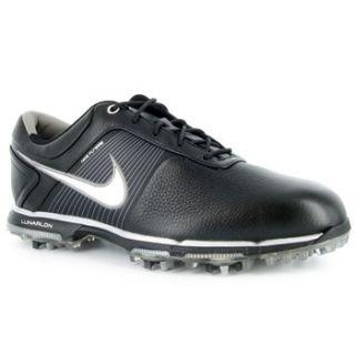 Mens Nike Lunar Control Golf Shoes 418472 001 Black Metallic Silver