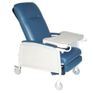 Drive Medical 3 Position Geri Chair Recliner Lift Chair 250LB Cap Blue