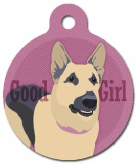 Good Girl German Shepherd Pet ID Tag Custom Text