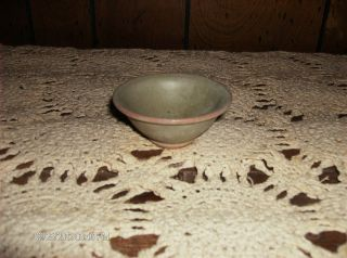 Vintage Small Green Pottery Bowl Dish