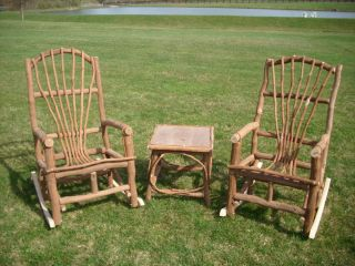 Amish Rustic Outdoor Glider Chair Solid Cedar Cabin Lodge