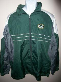Mens Reebok Green Bay Packers NFL Football Jacket Stitched Emblem Sz L