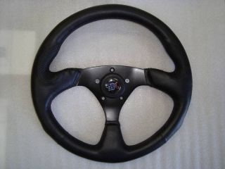 EZ Go Club Car Yamaha Steering Wheel Golf Cart Custom 3 Spoke Black
