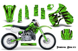 Kawasaki KX500 88 04 Graphics Kit Decals Tribal Bolts Tbygg