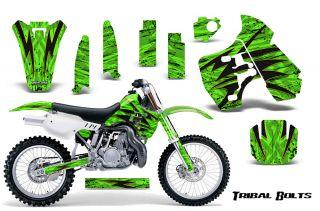 Kawasaki KX500 88 04 Graphics Kit Decals Tribal Bolts Tbygg