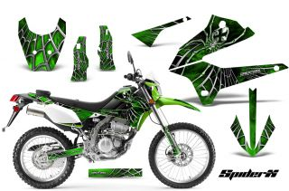 Kawasaki KLX 250 08 12 D Tracker Graphics Kit Decals Stickers Spiderx