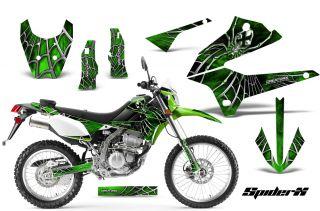 Kawasaki KLX 250 08 12 D Tracker Graphics Kit Decals Stickers Spiderx