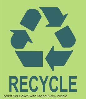 Recycle Stencil 8 Symbol Go Green Eco Living Reuse Reduce U Paint