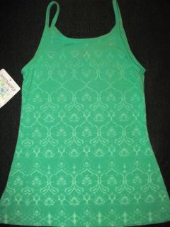 Green Apple Eco Organic Fitness Yoga Green Tank Top Shirt Strap New