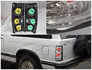 1982 1993 Chevy S10 GMC S15 Sonoma Pick Up Tail Lights Chrome