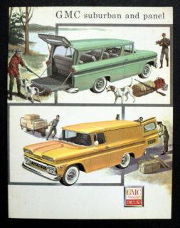 GMC 1960 Suburban and Panel Truck Sales Brochure
