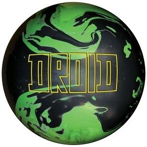 New Lane 1 Droid Green Black Bowling Ball 15 lbs 2nd x Out Blem
