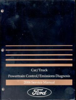 2006 Ford Powertrain Control Emission Diagnosis Manual Factory Service