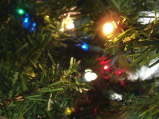 Pre Lit Canadian Pine Artificial Christmas Tree Multi Lights