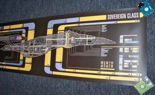 Giant 72 x 20 Star Trek Prop Lcars MSD USS Enterprise NCC 1701 E