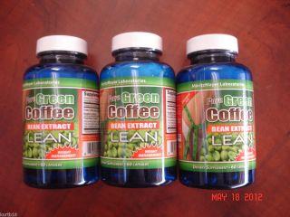 Green Coffee Bean Extract Lean w Raspberry Ketone Dr oz 180ct Fat
