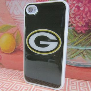 Green Bay Packers White Hard Case Phone Cover Case for Apple iPhone 4