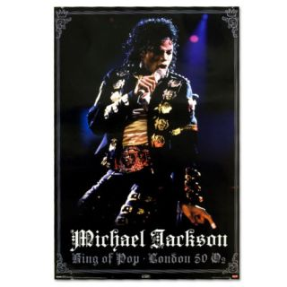 Michael Jackson Gold London Poster