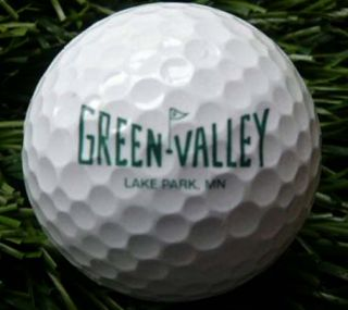 Green Valley Lake Park MN Logo Golf Ball