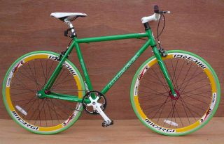 Fixie Fixed Gear Alloy Bicycle Bike 53cm RD 818 Men Green