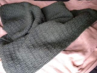 Handmade Crocheted Green Baby Blanket