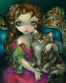 Jasmine Becket Griffith Art Big Print Signed Goth Princess with A