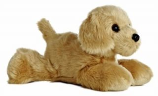 Plush Golden Retriever Puppy Dog Mini Flopsie Stuffed Animal Toy NEW