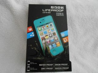 NEW LIFEPROOF TEAL Case for iPhone 4/4s Shock, Water, Dirt and Snow