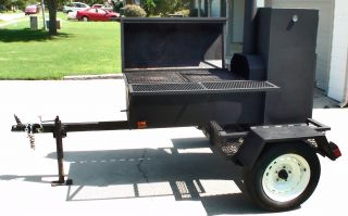 BBQ Grill Smoker Trailer Bar B Que Grill Barbecue Grill No Reserve