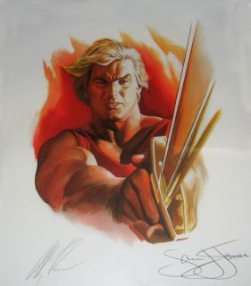 RARE Signed Alex Ross Sam Jones Flash Gordon Print Comic Art Autograph
