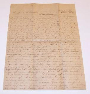 CONFEDERATE CSA CIVIL WAR LETTER CAMP PARTISAN RANGERS GOLDSBORO NC