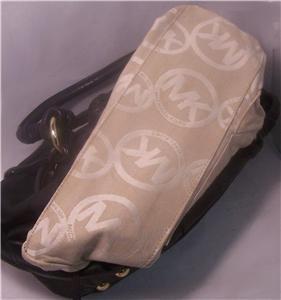 MK Handbag Purse Michael Kors Greenport Drawstring Tote Shoulder Bag $