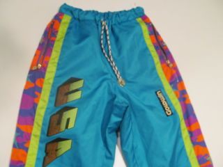 Vintage Goldwin Ski Snowboard Snow Pants Winter Lodge Neon
