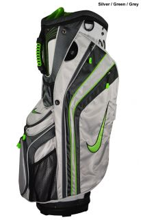 New Nike Golf Sport Cart Bag Silver Green Grey