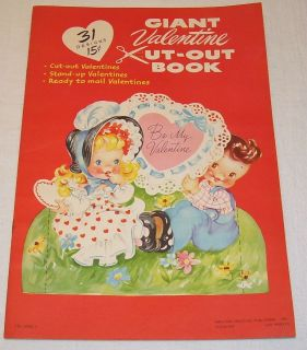AMERICAN GREETING GIANT VALENTINE CARD DIE CUT OUT BOOK OR STAND UP